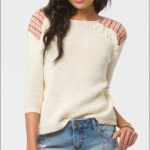 Billabong Large Boho Fringe Sandy Kisses Sweater